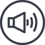 Vector o ícone de um som no botão na linha estilo da arte Pixel perfeito Foto de Stock Royalty Free