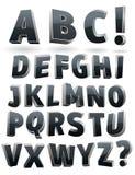 Vector o alfabeto 3D Foto de Stock