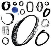 Vector letras do alfabeto escrito com um brus Imagem de Stock Royalty Free