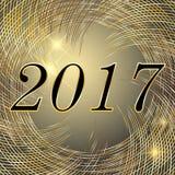 Vector o ano novo e o Natal 2017 vagabundos de incandescência das luzes do néon brilhante Fotografia de Stock