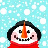 Vector o boneco de neve Fotos de Stock