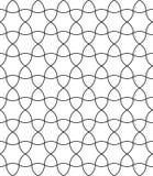 Vector o círculo sem emenda moderno do teste padrão da geometria, preto e branco Imagem de Stock Royalty Free