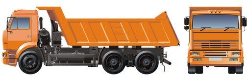 Vector o caminhão de descarga Fotos de Stock Royalty Free