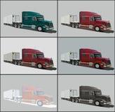 Vector o carro grande da carga com carga para viagens longas ilustração para a cópia Foto de Stock