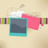 Vector o cartão com lugar para a foto e o texto Imagens de Stock Royalty Free