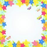 Cartão do vetor com quadro tropical da flor Imagem de Stock Royalty Free