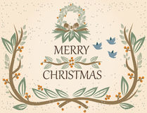 Vector o cartão de Natal Ilustração do Vetor