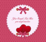 Vector o cartão em um fundo bege Fotos de Stock Royalty Free