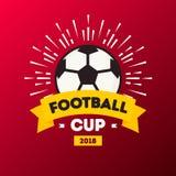 Vector o competiam 2018 do futebol do copo do futebol do mundo da ilustração ilustração royalty free