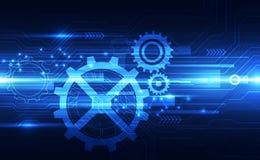 Vector o conceito digital futuro da tecnologia da velocidade, ilustra??o abstrata do fundo ilustração do vetor