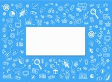 Vector o conceito do mercado do Internet e do negócio em linha Fotos de Stock Royalty Free