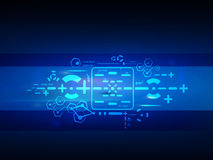 Vector o conceito futuro da tecnologia digital, fundo abstrato Imagens de Stock