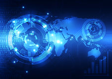 Vector o conceito global digital da tecnologia, fundo abstrato Fotos de Stock