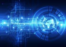 Vector o conceito global digital da tecnologia, fundo abstrato Imagem de Stock
