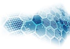Vector o conceito global digital da tecnologia, fundo abstrato ilustração royalty free