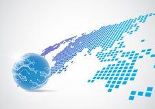 Vector o conceito global digital da tecnologia, fundo abstrato ilustração do vetor