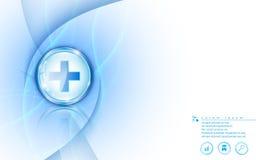 Vector o conceito inovativo médico dos cuidados médicos abstratos do molde do fundo ilustração do vetor