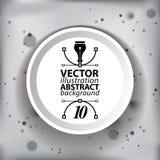 Vector o contexto complicado 3D abstrato da arte op do borrão, ilustração conceptual da tecnologia eps10, melhor para a Web e o p Fotografia de Stock Royalty Free
