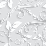 Vector o convite sem emenda vitoriano floral do fundo, casamento, teste padrão decorativo dos cartões de papel Imagens de Stock