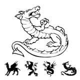 Vector o dragão Imagem de Stock