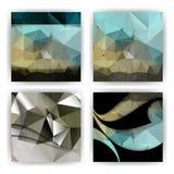 Vector o efeito do grunge no fundo triangular do negócio das formas Imagens de Stock Royalty Free