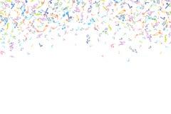 Vector o elemento colorido do fundo das notações de música no estilo liso ilustração royalty free