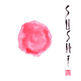 Vector o elemento do projeto para o menu, logotipo, cartão Restaurante de sushi, culinária japonesa Foto de Stock Royalty Free