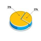 Vector o elemento infographic, dos segmentos por cento do illustrat do círculo 3d Imagem de Stock