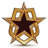 Vector o elemento lustroso glorioso do projeto, estrela 3d luxuosa Fotografia de Stock