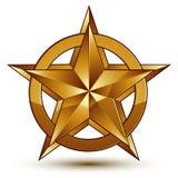 Vector o elemento lustroso glorioso do projeto, estrela dourada do luxo 3d, co ilustração stock