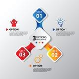 Vector o elemento para infographic - molde para o diagrama, o gráfico, a apresentação e a carta Fotos de Stock Royalty Free