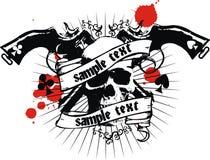 Vector o emblema do crânio Imagens de Stock