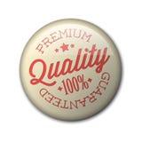 Vector o emblema superior retro da qualidade Fotos de Stock Royalty Free