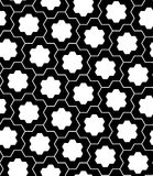 Vector o enigma sem emenda moderno do teste padrão da geometria, preto e branco Imagens de Stock