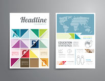 Vector o folheto, inseto, projeto do cartaz da brochura da capa de revista Imagens de Stock Royalty Free