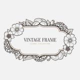 Vector o frame floral do vintage Gráfico retro do estilo ilustração royalty free