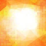 Vector o fundo abstrato alaranjado para o negócio com quadrados Fotos de Stock Royalty Free