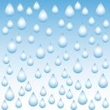 Vector o fundo abstrato com gotas da água no inclinação azul ilustração stock