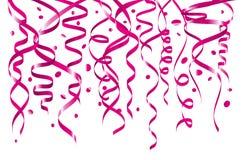 Vector o fundo abstrato com mês nacional de queda do awaeness do canser do peito de muitas partes minúsculas cor-de-rosa dos conf ilustração royalty free