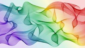 Vector o fundo abstrato de linhas coloridas moventes do arco-íris foto de stock royalty free