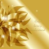Vector o fundo abstrato floral luxuoso do ouro com flor Ilustração Royalty Free