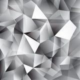 Vector o fundo abstrato geométrico com triângulos e linhas Fotografia de Stock Royalty Free
