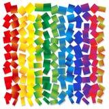 Vector o fundo abstrato - quadrados do arco-íris arranjados aleatoriamente ilustração stock