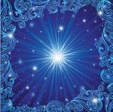 Vector o fundo azul do Natal com estrelas ilustração royalty free