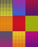 Vector o fundo colorido com os pontos no estilo do pop art ilustração stock