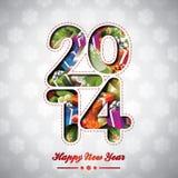 Vector o fundo colorido da celebração do ano novo feliz 2014 Imagens de Stock Royalty Free