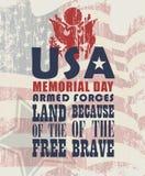 Vector o fundo com a bandeira americana e o emblema das forças armadas dos E.U. Foto de Stock Royalty Free