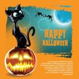 Vector o fundo de Halloween Fotos de Stock