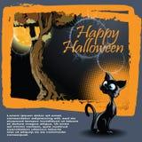 Vector o fundo de Halloween Imagem de Stock Royalty Free