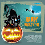 Vector o fundo de Halloween Foto de Stock Royalty Free